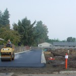 Putting in the street for the BraunerBrook neighborhood in Hillsboro.  10/11/10